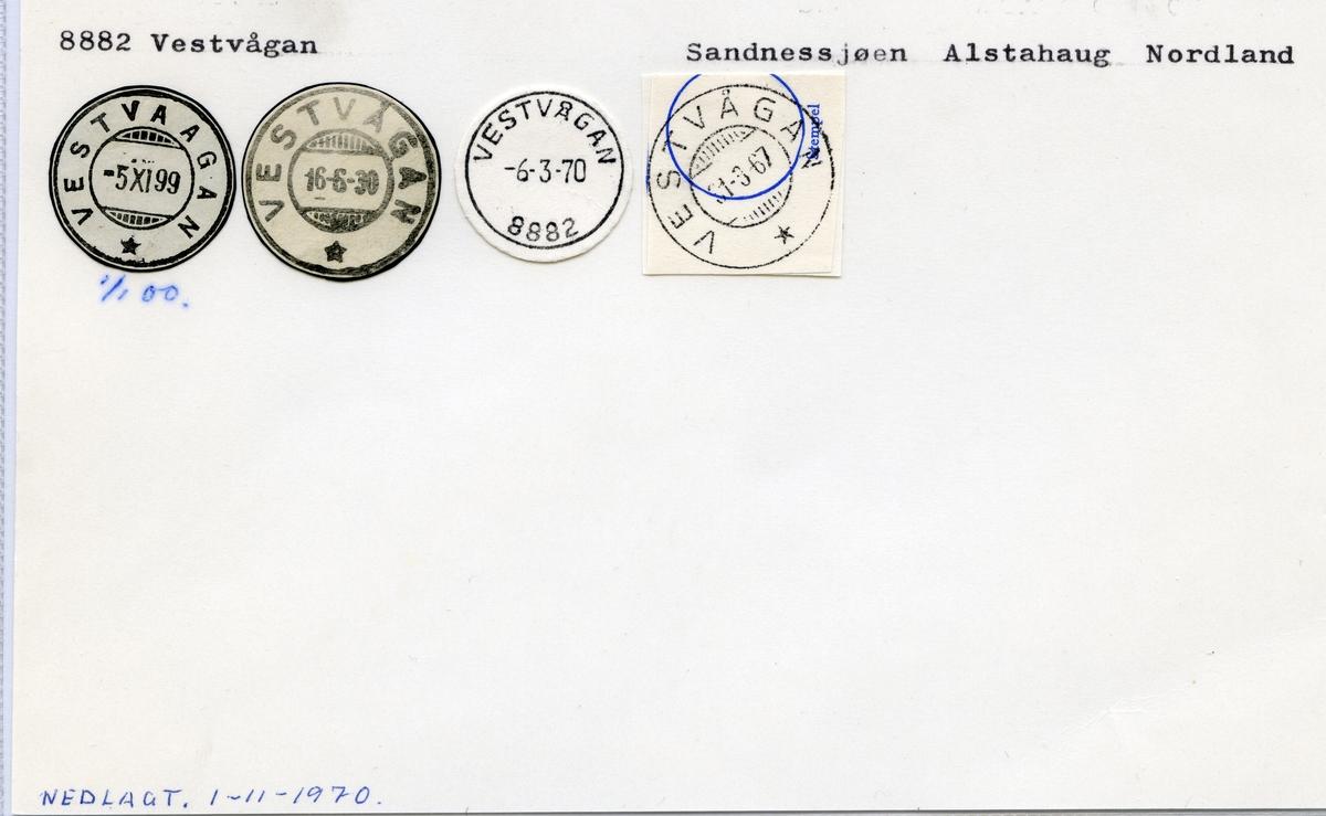 8882 Vestvågan (Vestvaagan), Sandnessjøen, Alstadhaug, Nordland