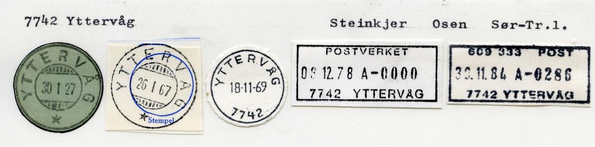 Stempelkatalog 7742 Yttervåg, Osen kommune, Sør-Trøndelag