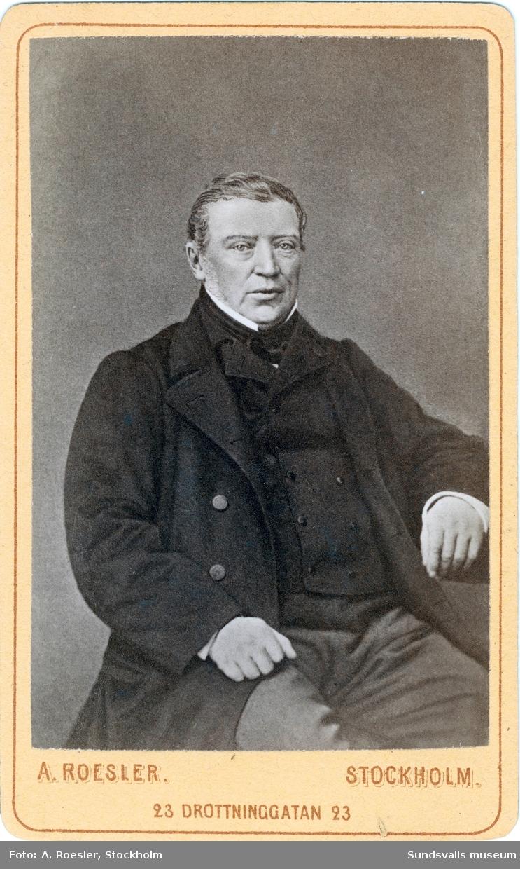 Porträtt på sågverksägare P. F. Heffner. Grundare till Heffners sågverk.