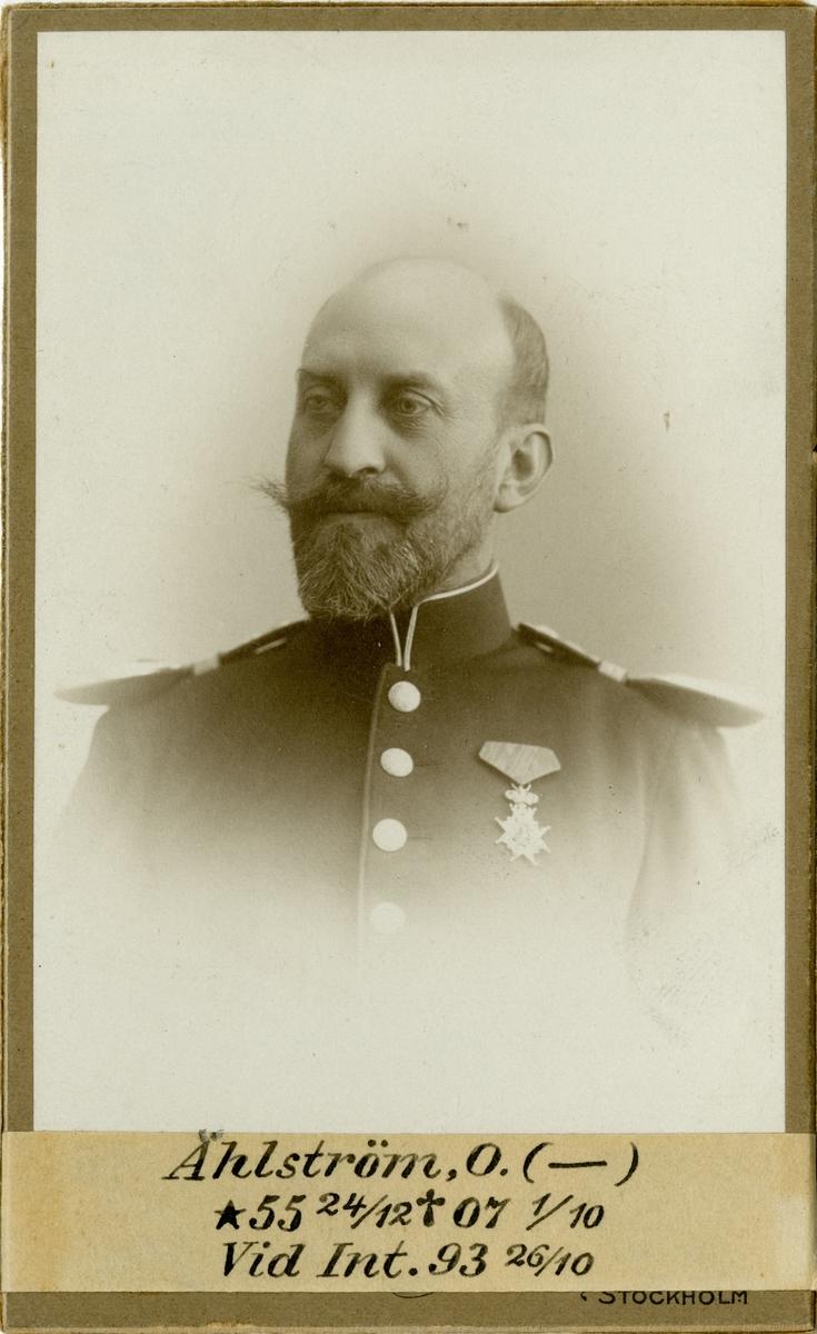Porträtt av Oscar Ählström, intendent vid Intendenturkåren.