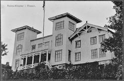 Postkort over hovedbygningen, Reins Kloster, Rissa