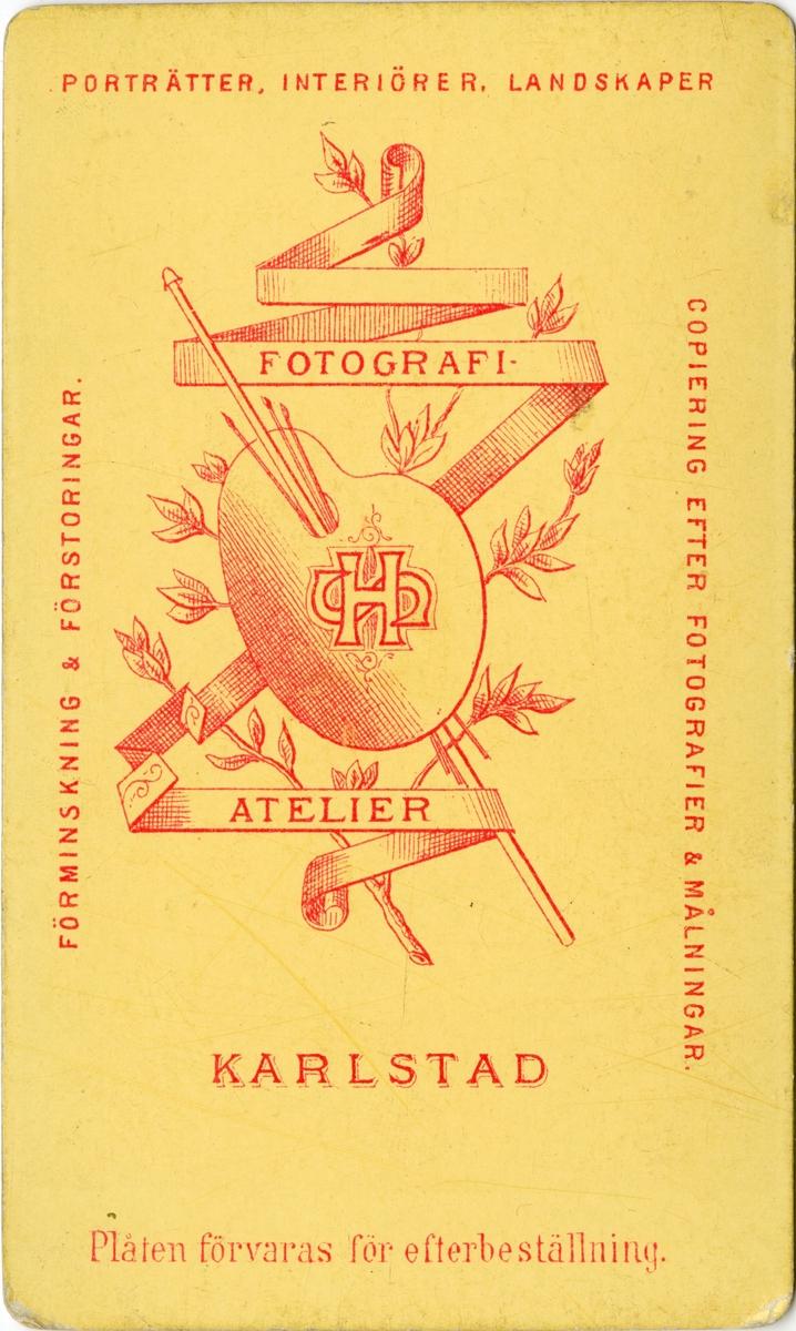 Porträtt av Hugo Axel Johan Ziegler, löjtnant vid Värmlands regemente I 22.  Se även bild AMA.0009319 och AMA.0009452.
