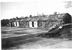 Gammen på Svanvik. 1932.  Gammen huset 60 mann pluss 2 befa