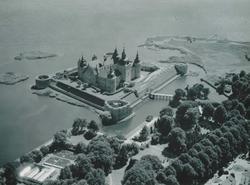 Flygfoto över Kalmar slott.