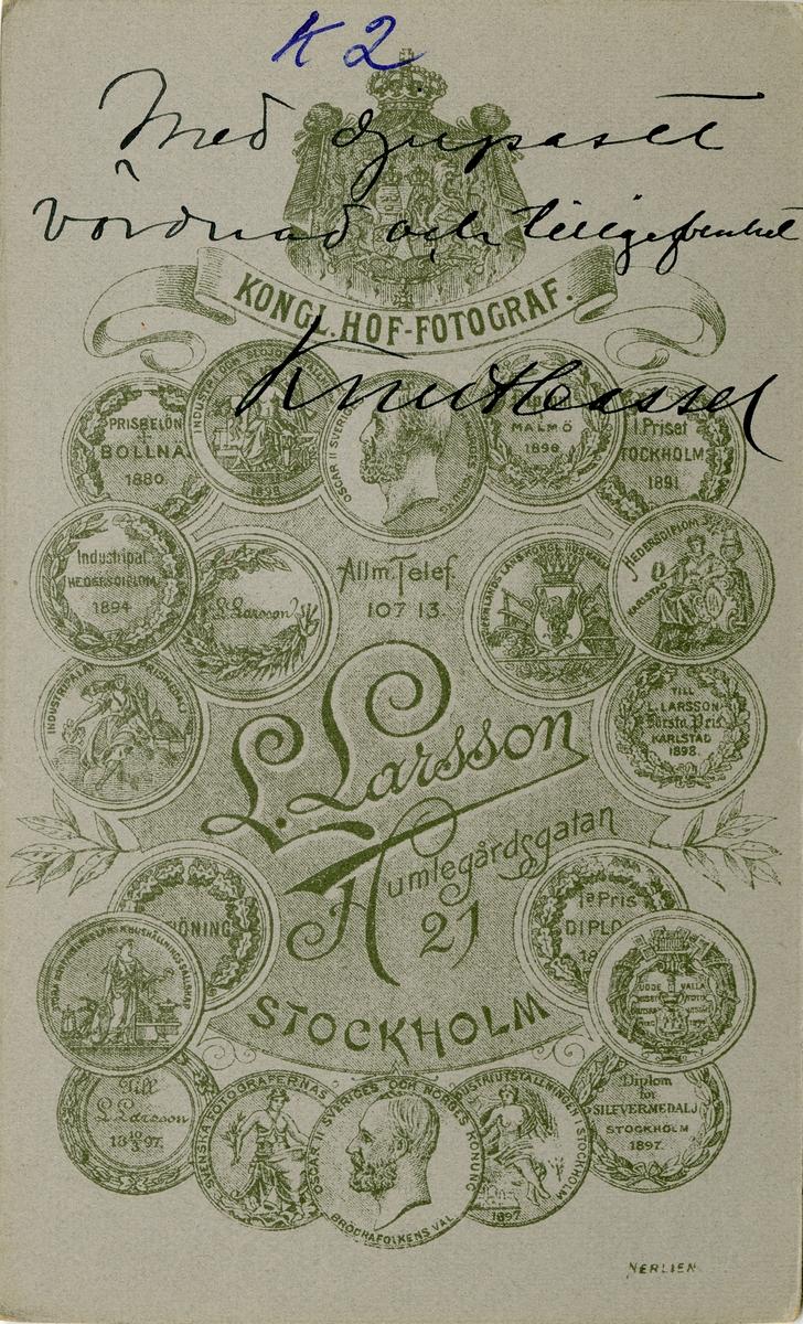 Porträtt av Knut Alfred Hjalmar Cassel, ryttmästare vid Livregementets dargoner K 2.