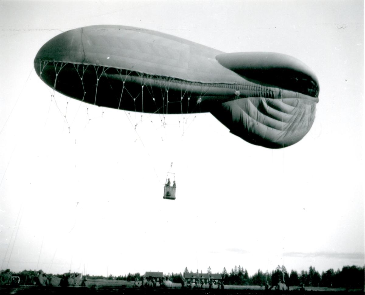 Fältballong m/1932 i  Skillingaryd.