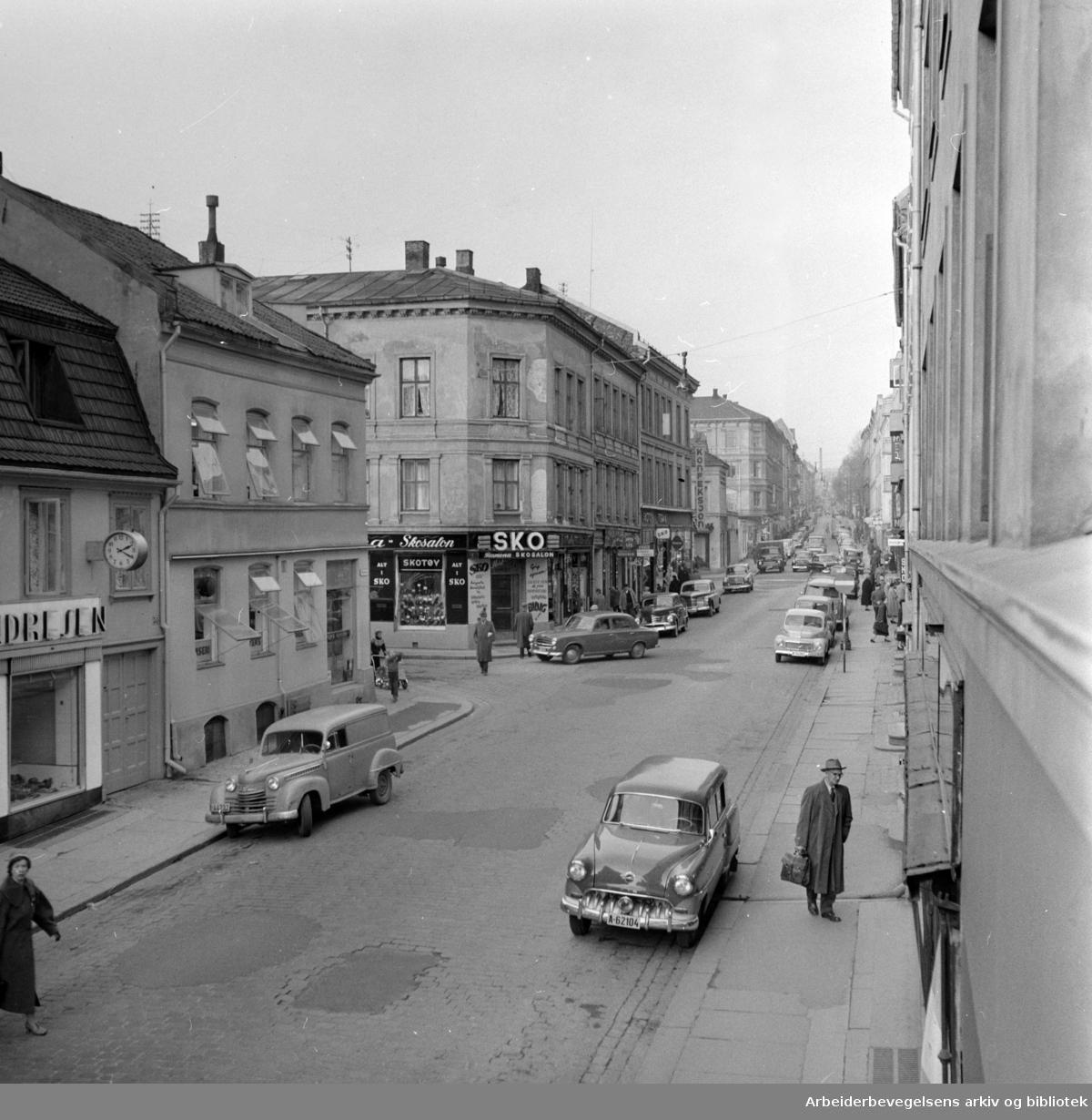 Markveien. Oktober 1957