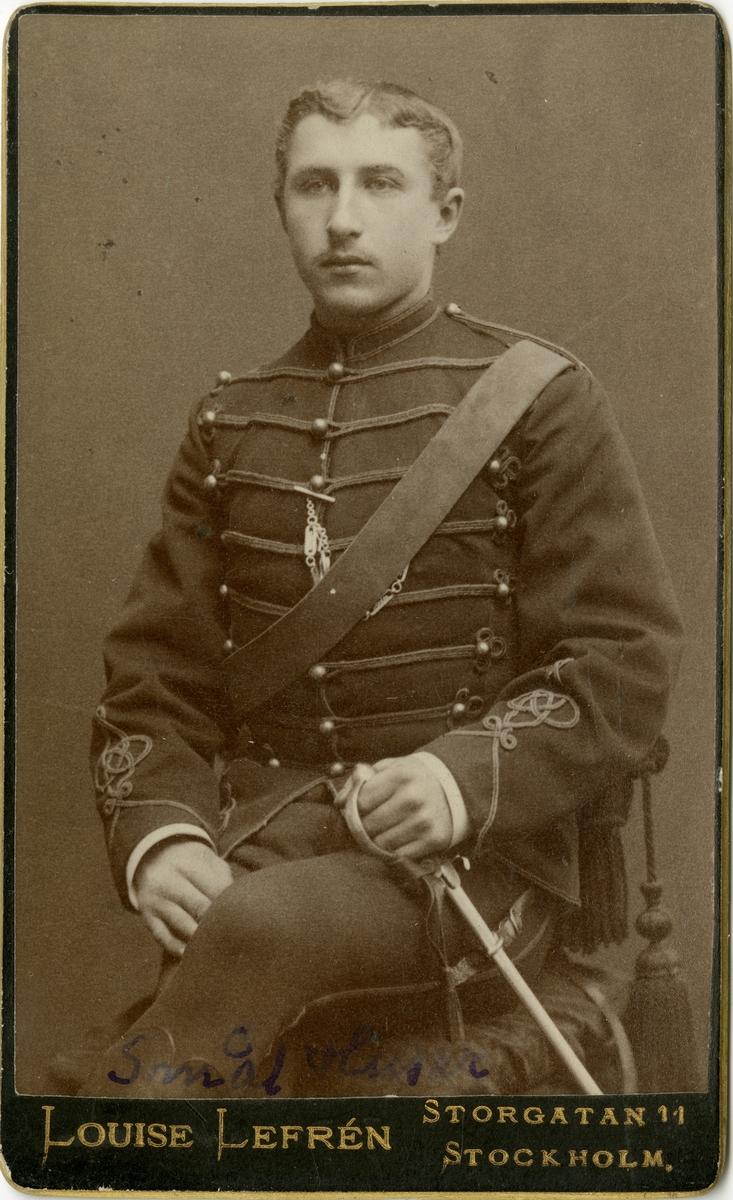 Porträtt av okänd soldat vid Smålands husarregemente K 4.