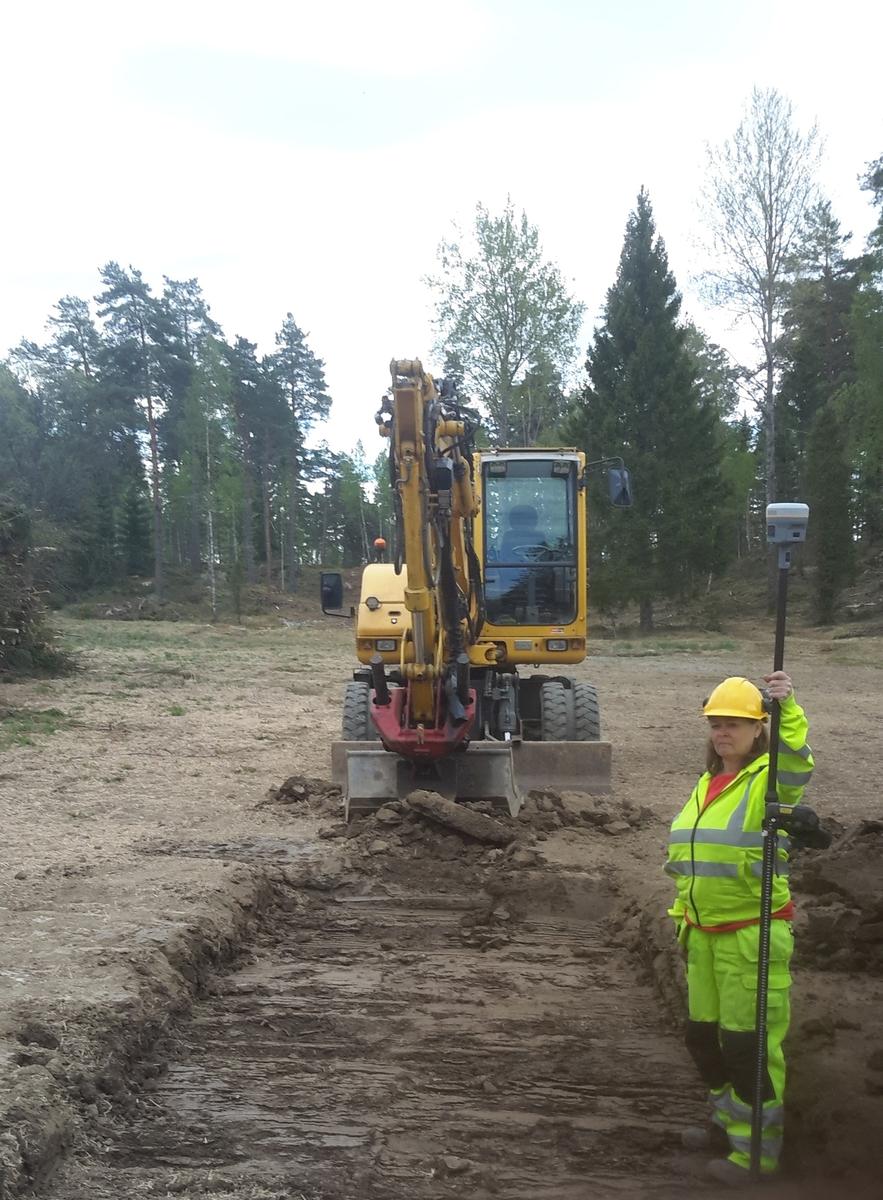Arkeologisk förundersökning, schaktning övervakas, Nåsten, Läby socken, Uppland 2016