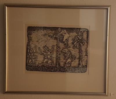 Trykk, uten tittel. Trykk. 68x54 cm. Kr. 3.333