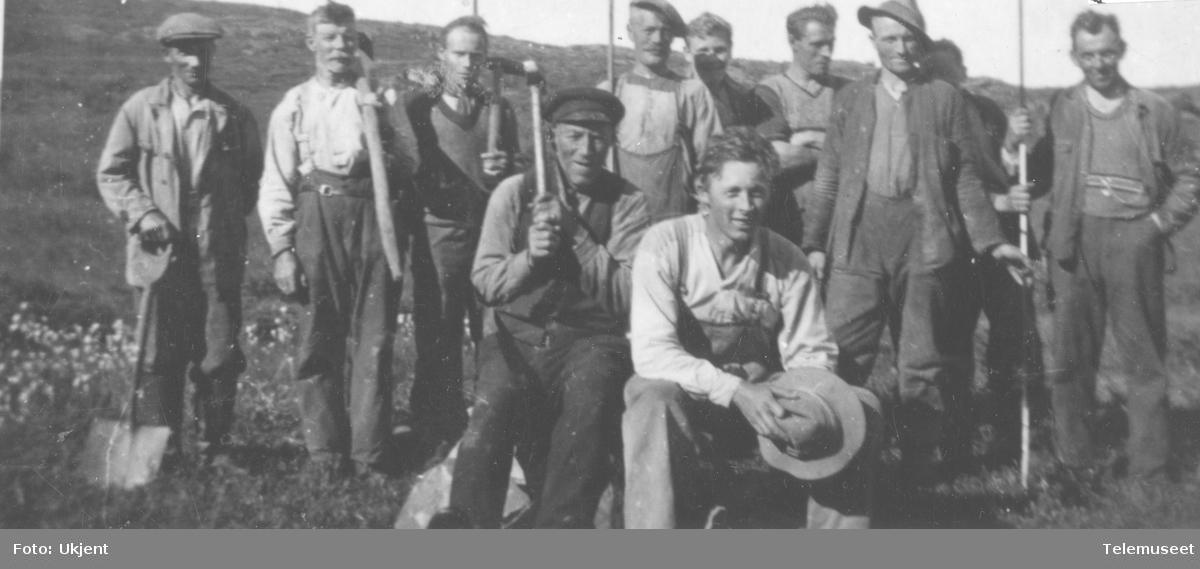 Arbeidsavdeling på telelinja Klaunes til Follesøy