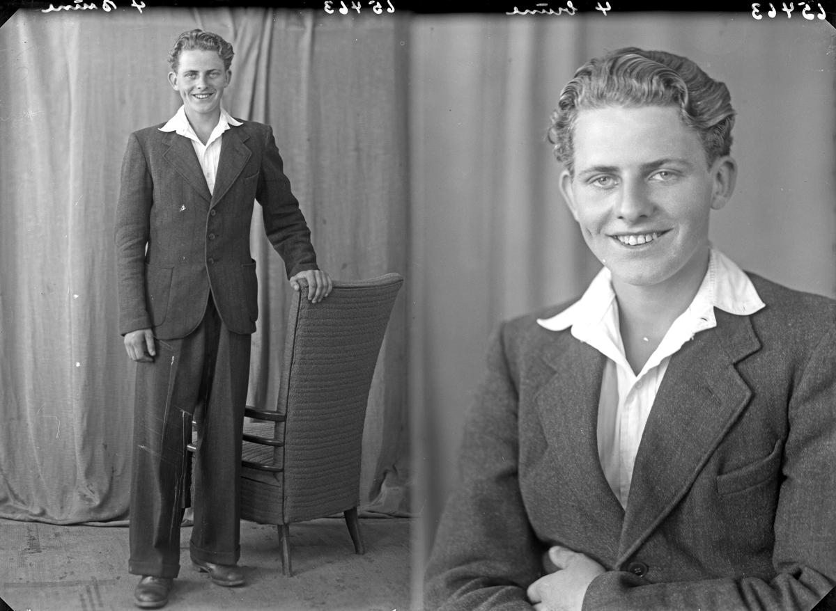 Portrett. Ung mann. Bestillt av Nils Holleheim. Stord