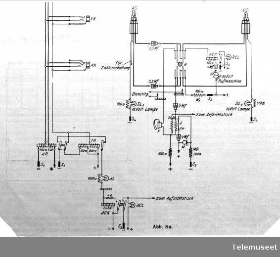 Skjema for manuelt system, (ant. ringing - Køln) 12.12.12. Elektrisk Bureau.