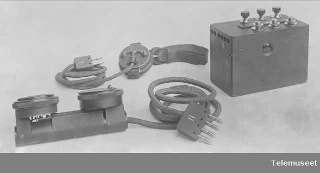 Felttelefonapparat, liten modell 1915. 13.3.15. Elektrisk Bureau.