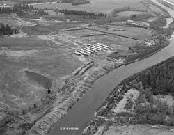 Flyfotografi, tatt over elva Nordre Rena eller Hornsetstrømm