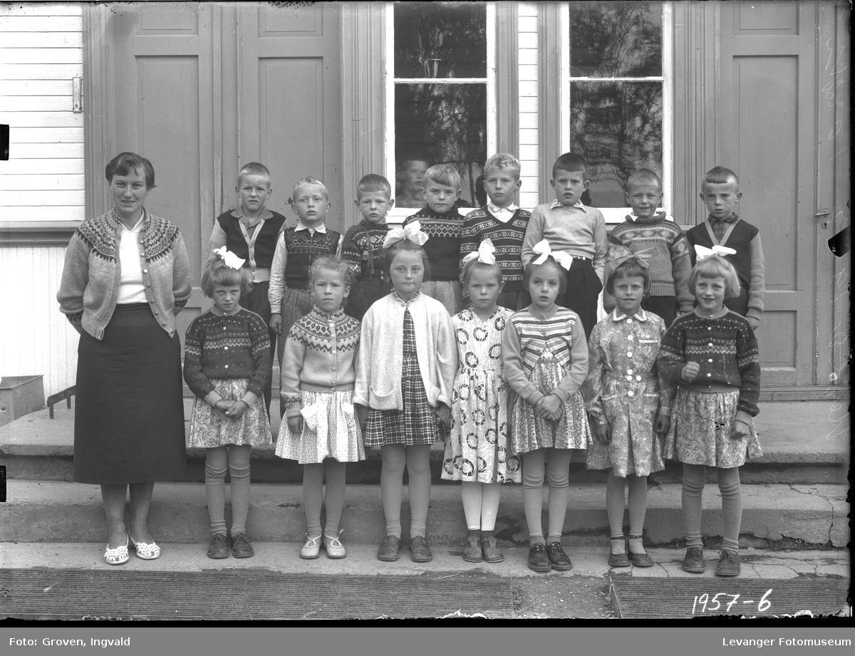 Skolebilde fra folkeskole, Hegle skole.