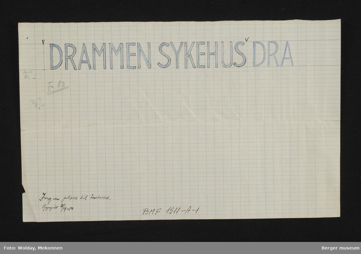 DRAMMEN SYKEHUS DRA.