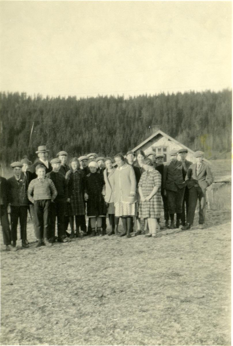 En gruppe elever ved Vestoppland Folkehøgskule.