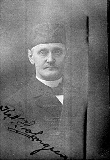 Folkskollärare Karl Alfred Holmgren. Lärare i Hornborga skola 1890-1928.Född 1866 i Tarsled, död i Bolum 1941.