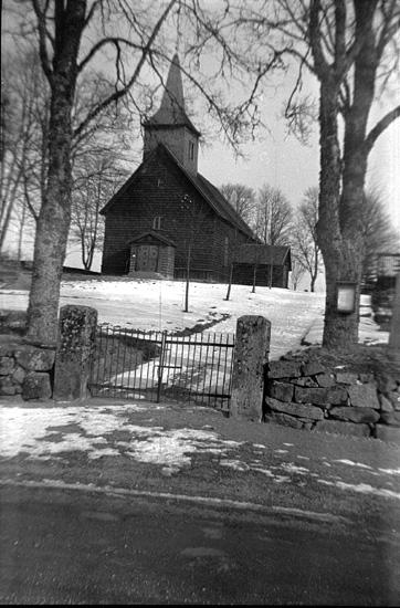 Bildtext: Älgarås kyrka 1944.