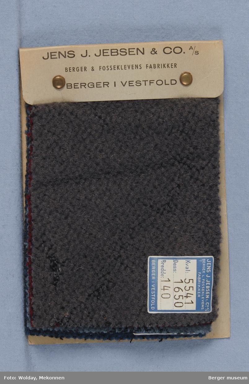 Prøvehefte med 5 prøver Kåpe Stykkfarget Kvalitet 5541