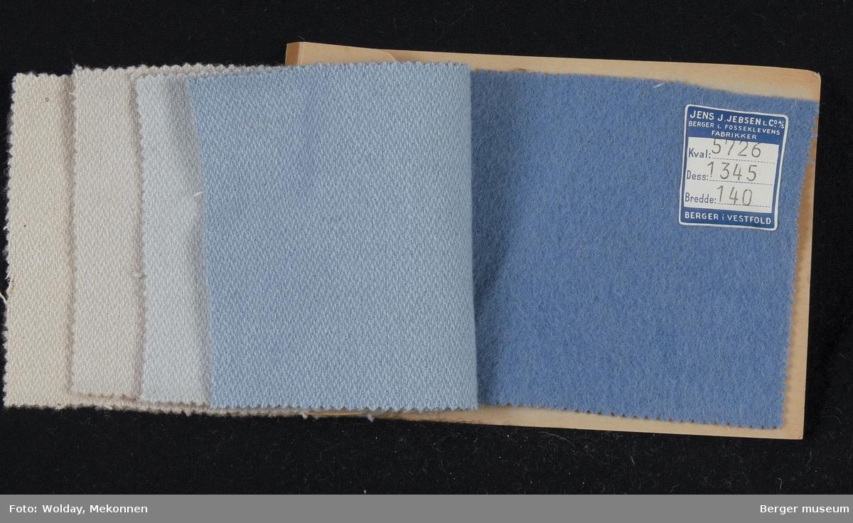 Prøvehefte med 5 prøver Stykkfarget Kvalitet 5726 Vårkåpe