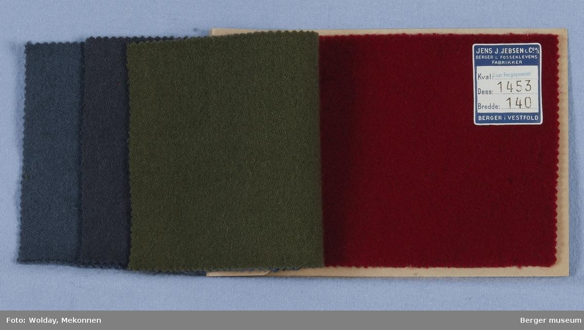 Prøvehefte med 4 prøver Kåpe Kvalitet 5773 Stykkfarget