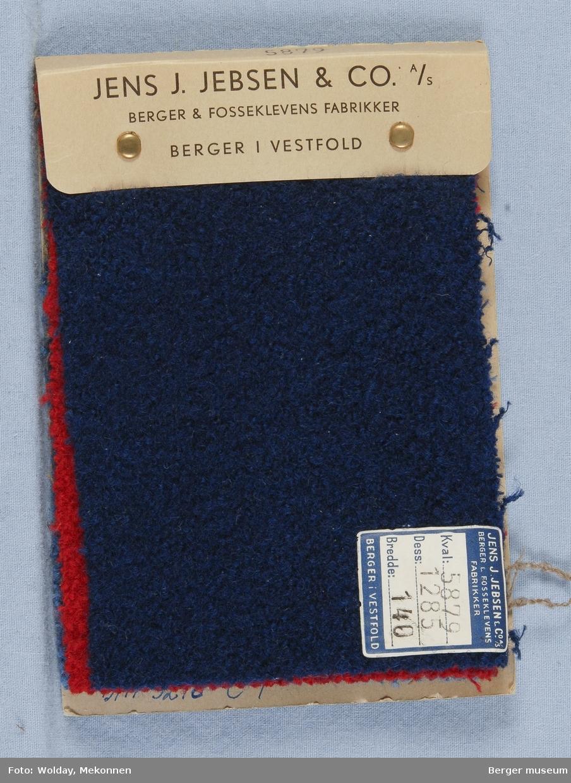 Prøvehefte med 4 prøver Kåpe, bekledning Kvalitet 5879 Stykkfarget