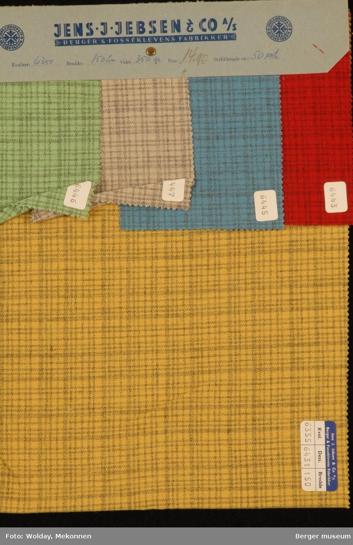 Prøvehefte med 5 prøver Kjole/skjørt Kvalitet 6355 Stykkfarget