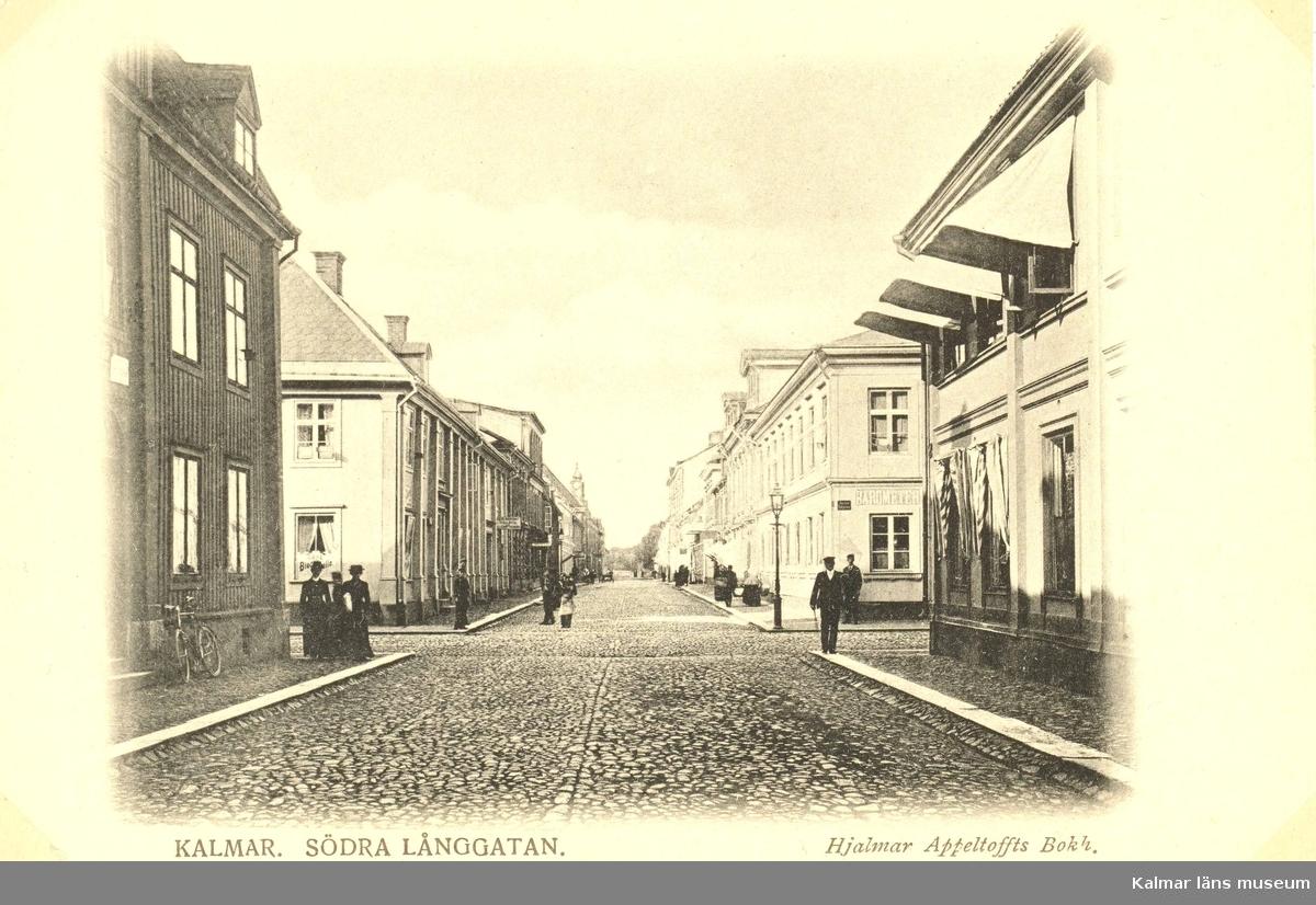 Kalmar, Södra Långgatan. Hjalmar Appeltoffts Bokhandel.