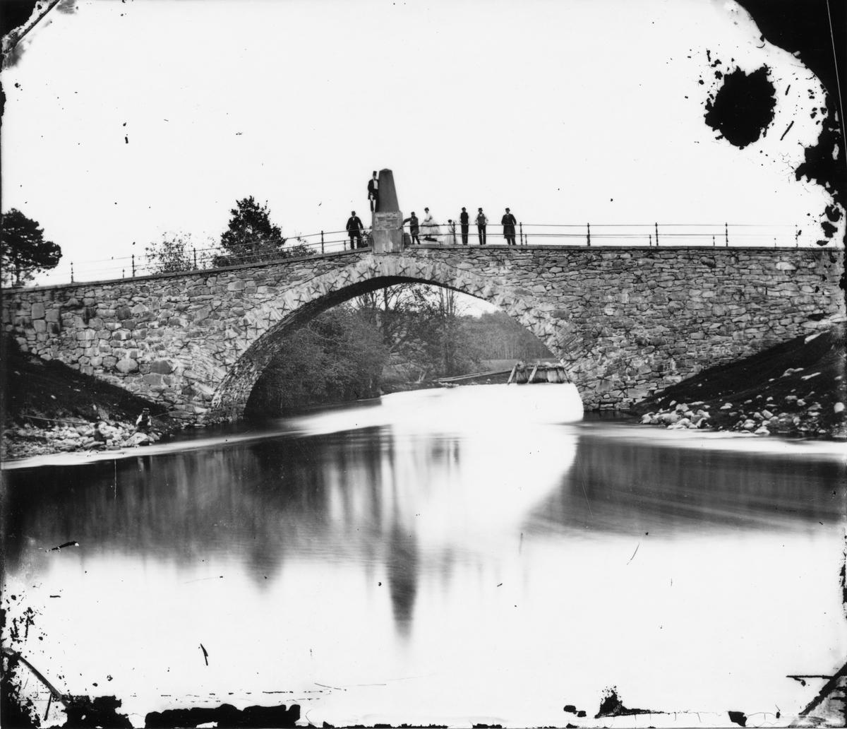 Gustafsbro utanför Gävle. 1860-talet. Foto: Amanad Gussander