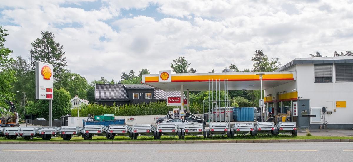 Shell bensinstasjon Nesbruveien Nesbru Asker