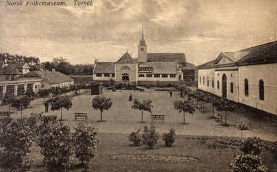 De første museumsbygningene på Norsk Folkemuseum