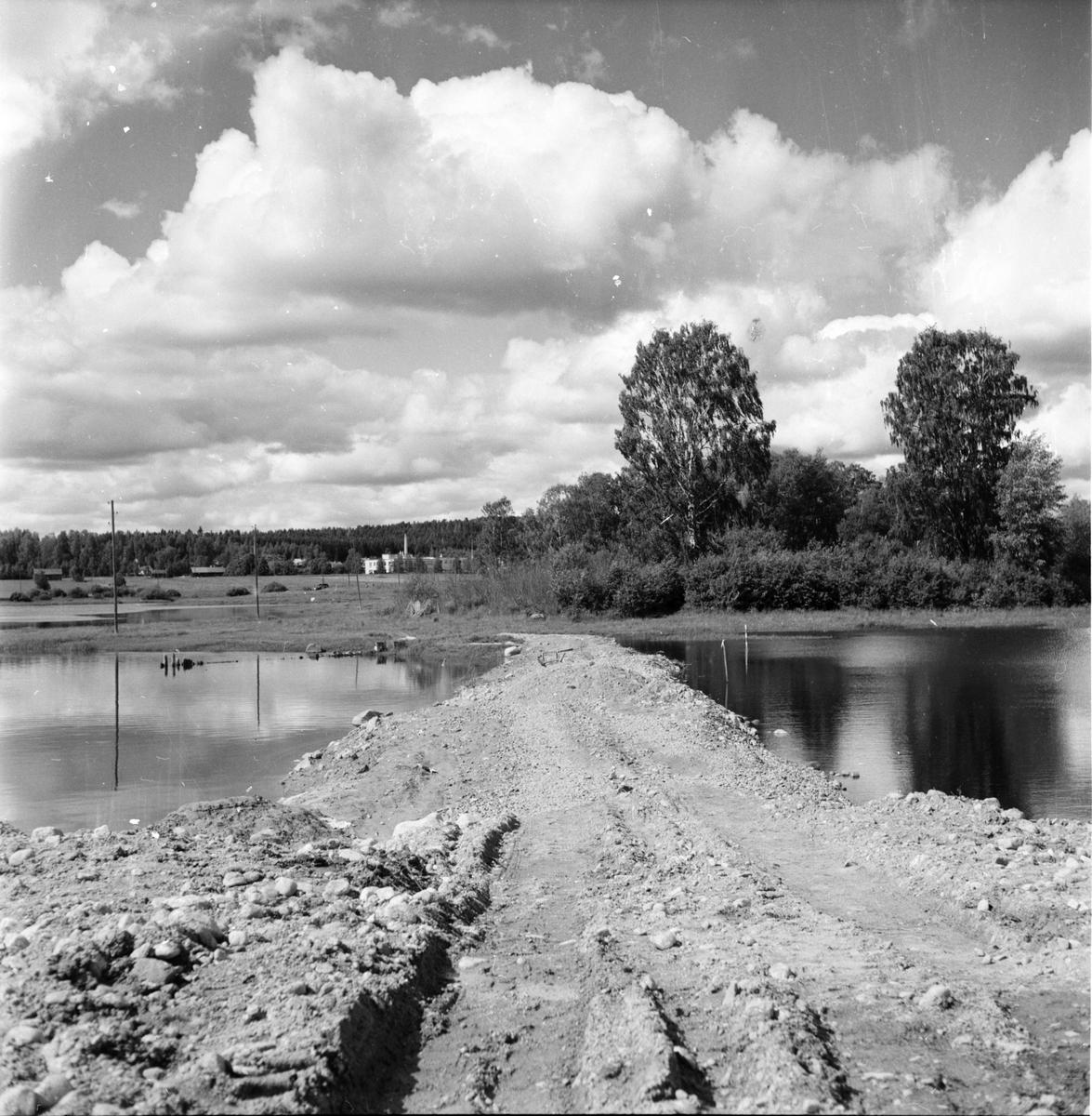 Vågen, Dammen, Stadsing St Sandström. Bild 12 Juli 1957