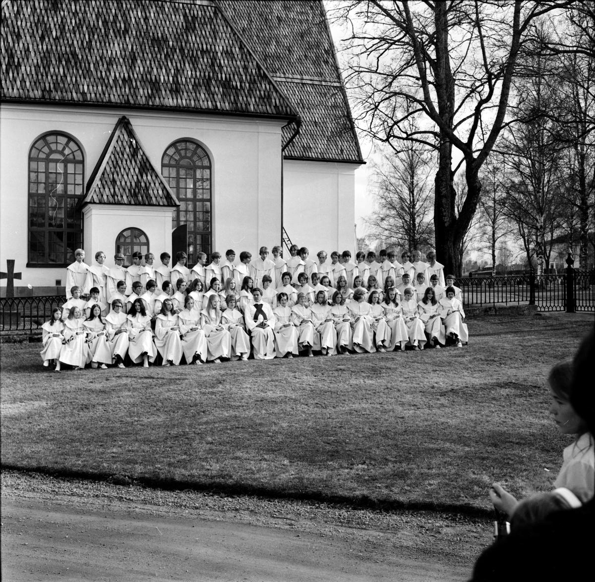 Arbrå, Konfirmation i Arbrå kyrka, Våren 1970