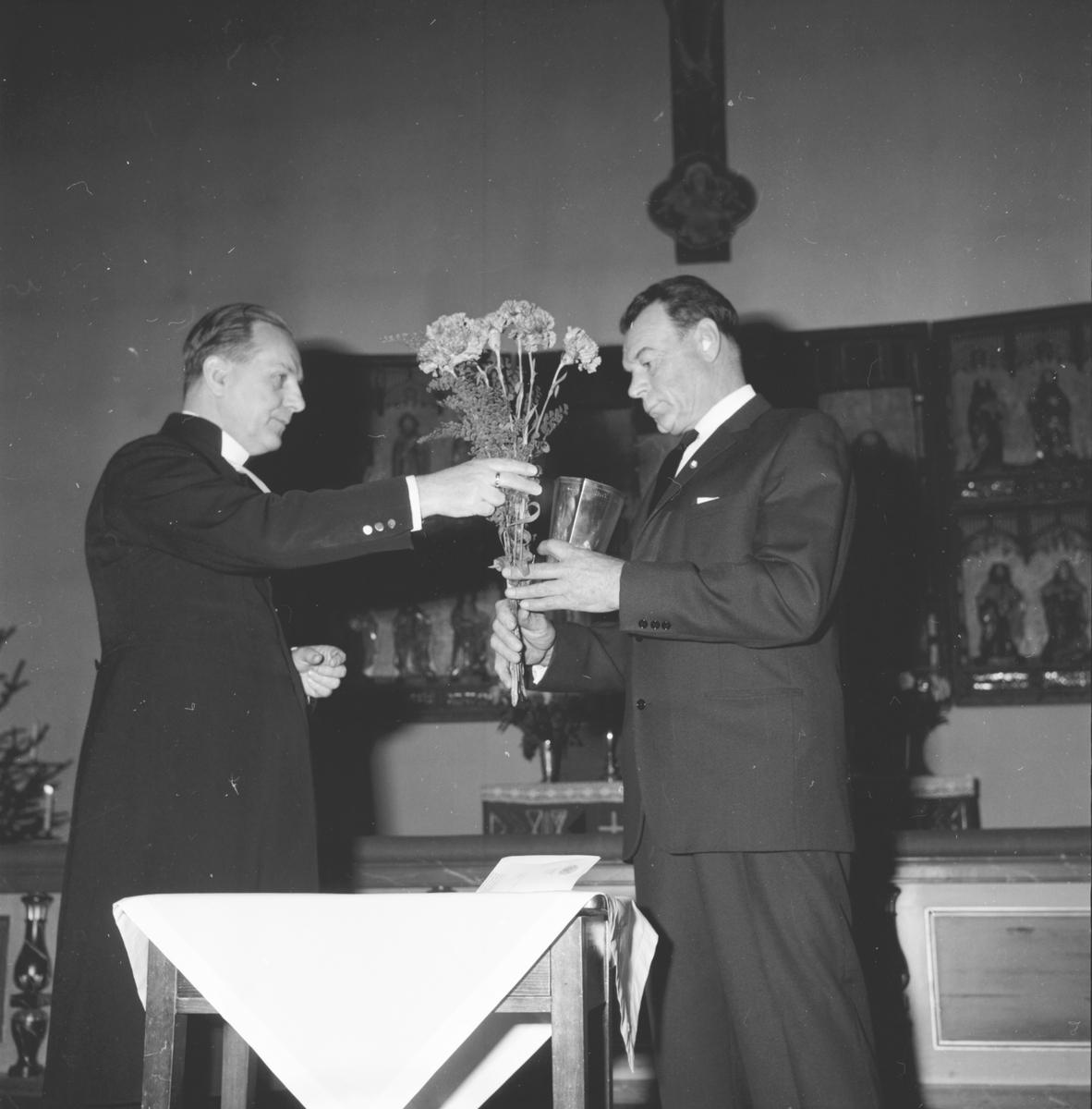 Ljung Jonas, får carnegiebelöning, 5 Dec 1965
