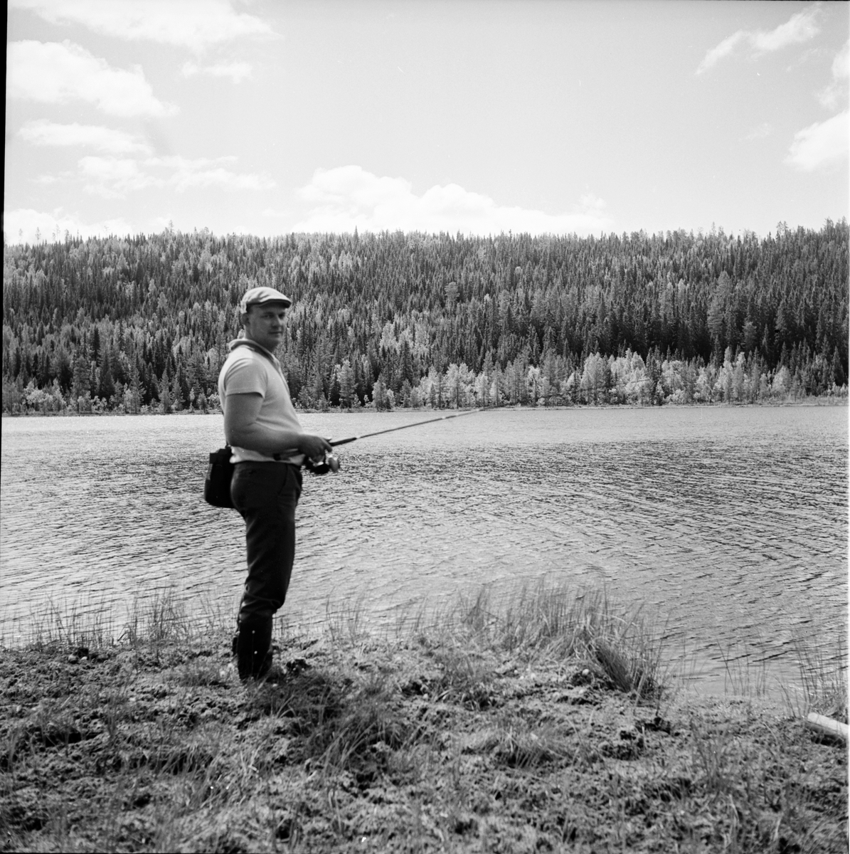 Alfta. Provfiske i Pukatjärn. 17/6-1967