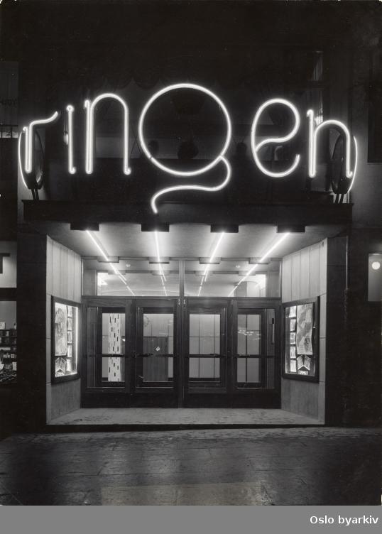 """Inngangsparti. Film som vises: """"Rosor varje kväll"""" av Per Axel Branner fra 1939."""