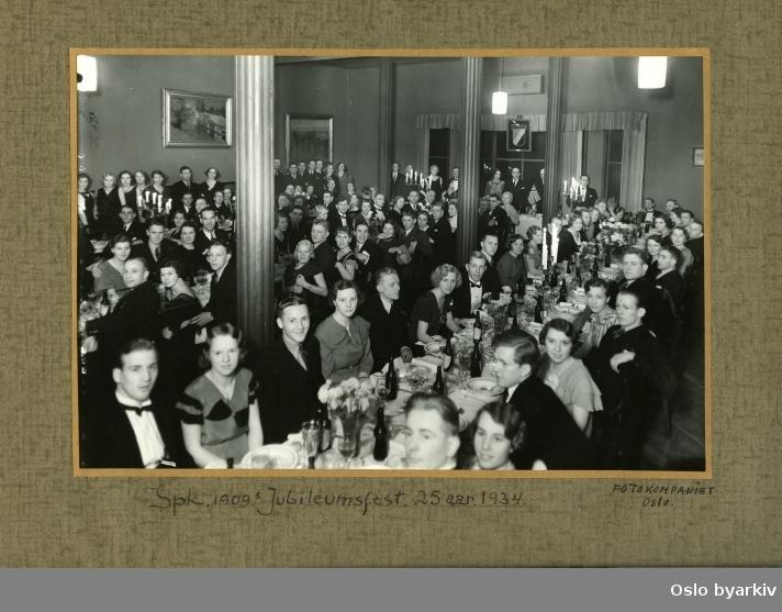 Bilde av jubileumsfeiring i anledning Sportsklubben 1909 s 25-års jubileum i 1934.