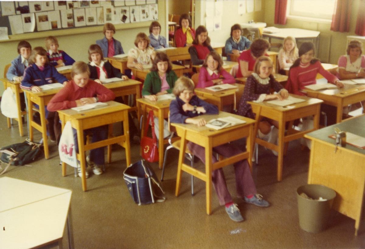 Bagn skole, 6.klasse 1974/75.