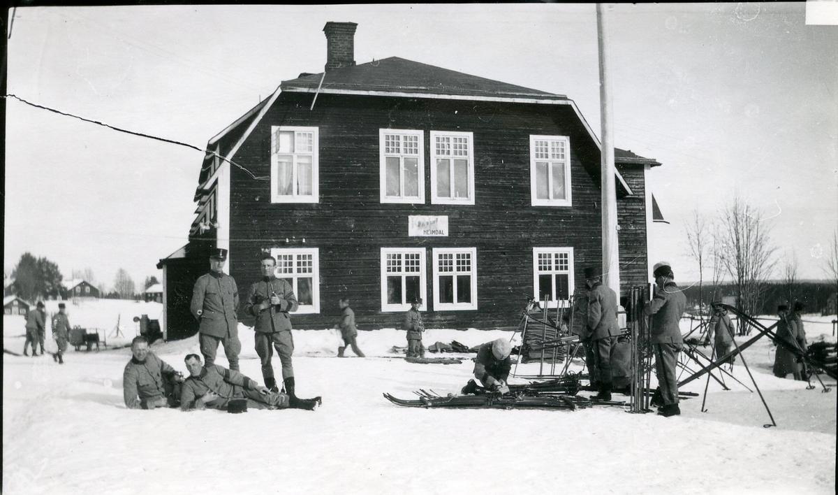 Vinterövning på Arméns underofficersskola.