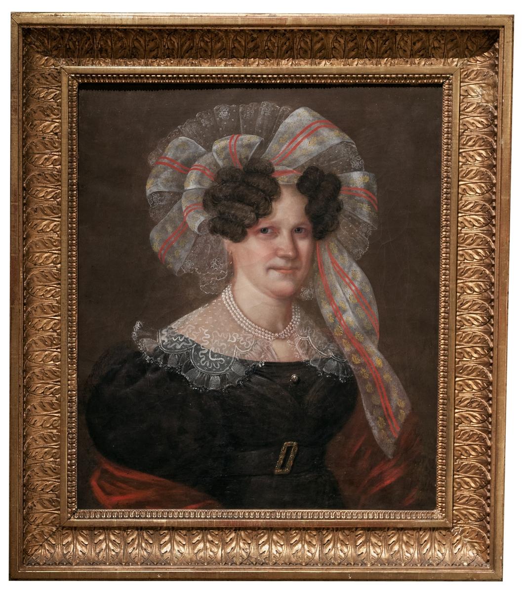 Oljemålning av fröken Jeanette Baumgren, av Carl Peter Lehmann, omkring 1840-1850.