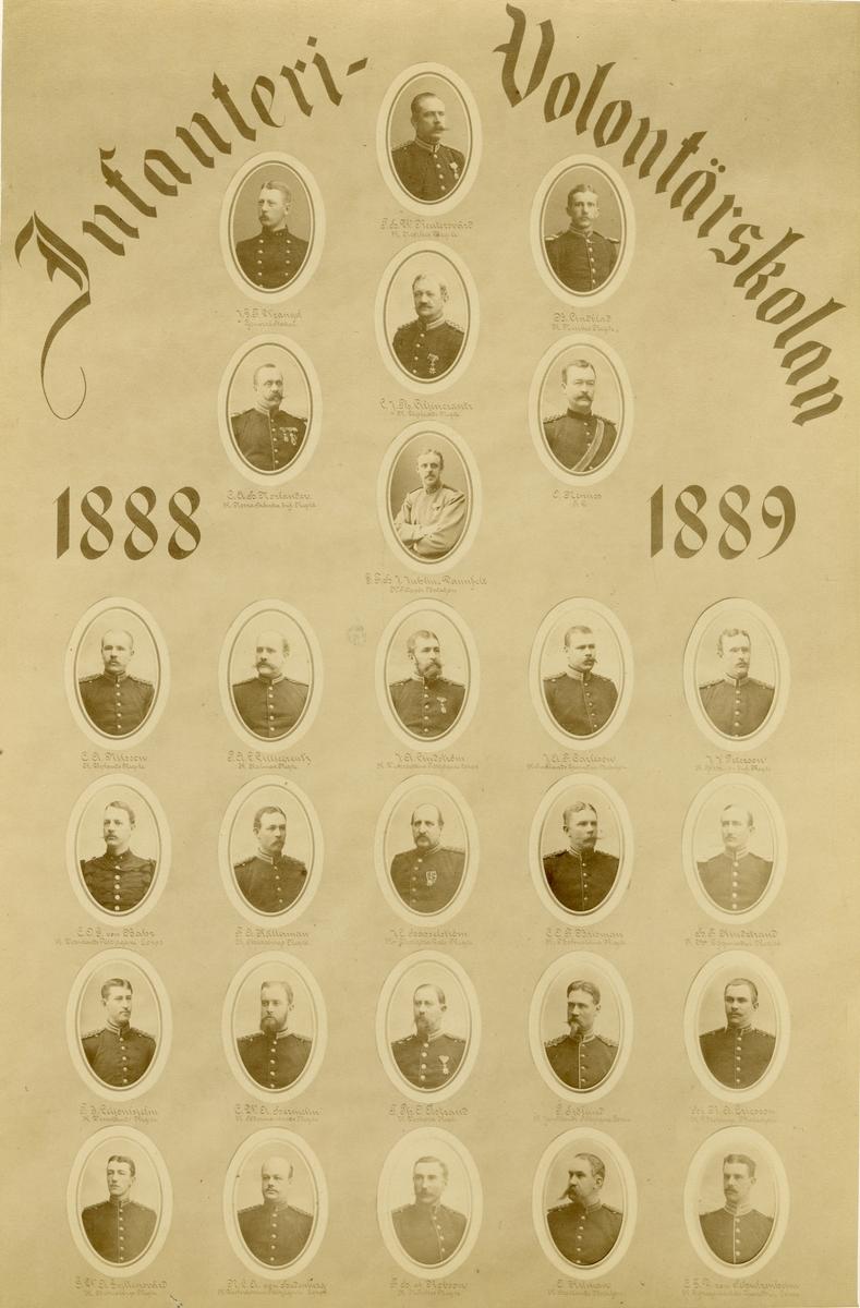 Infanterivolontärskolan 1888-1889.