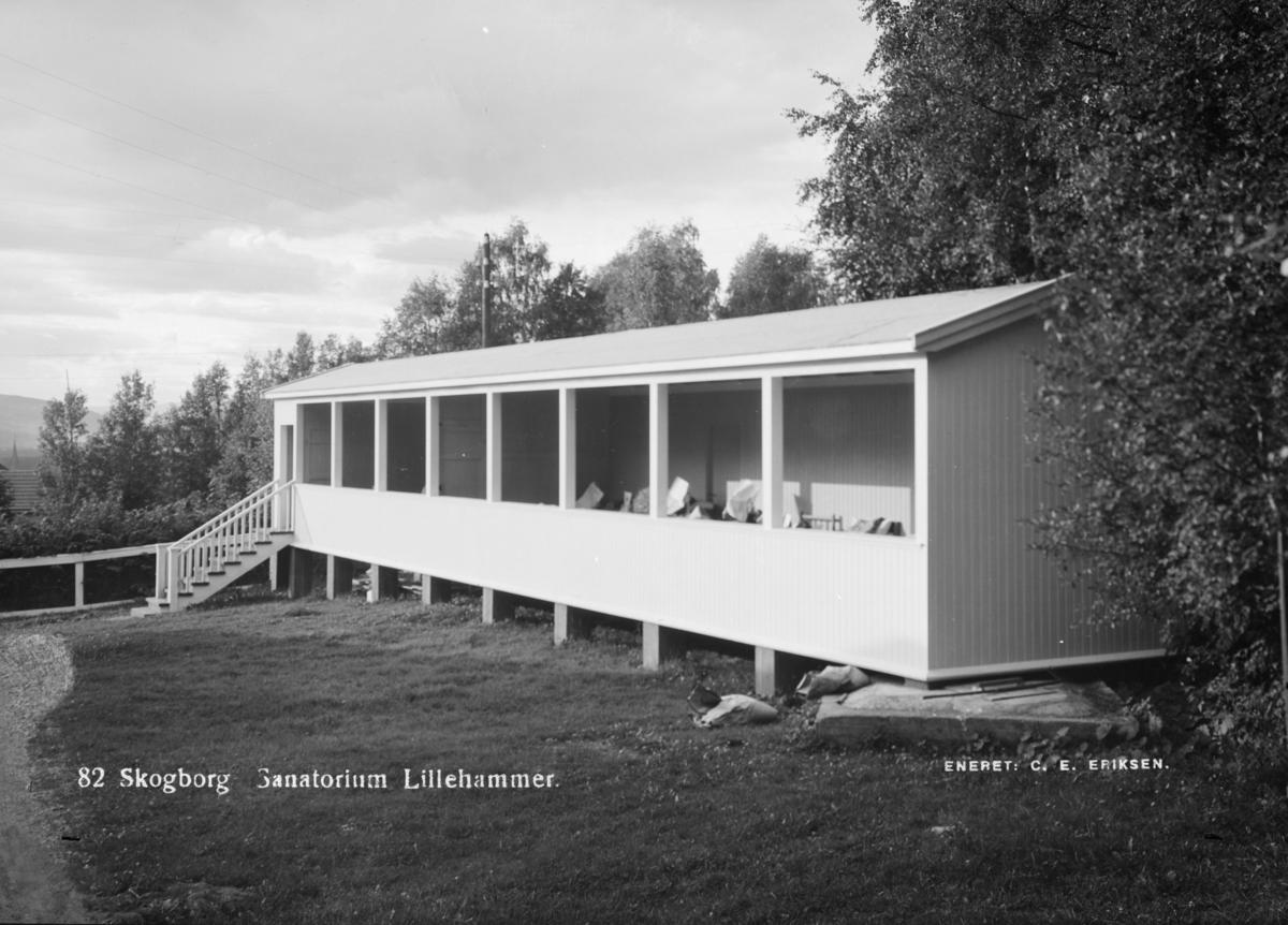 Fra Skogsborg sanatorium på Lillehammer. Senere Bellevue.