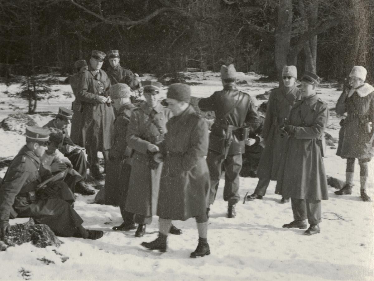 Kurs för kompanichefer, I 4 Linköping 1941.