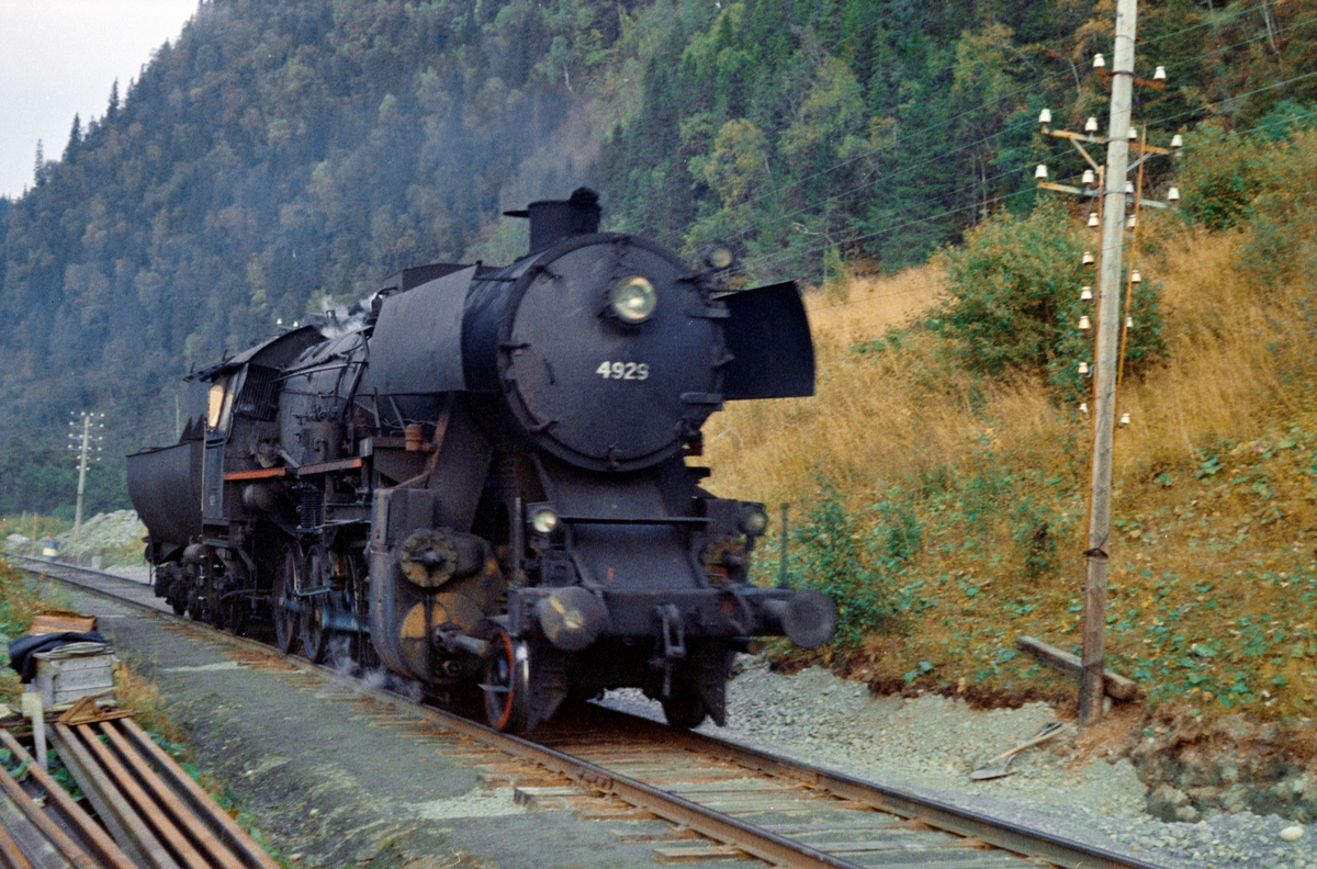 Damplokomotiv type 63a nr. 4929 på Meråkerbanen.