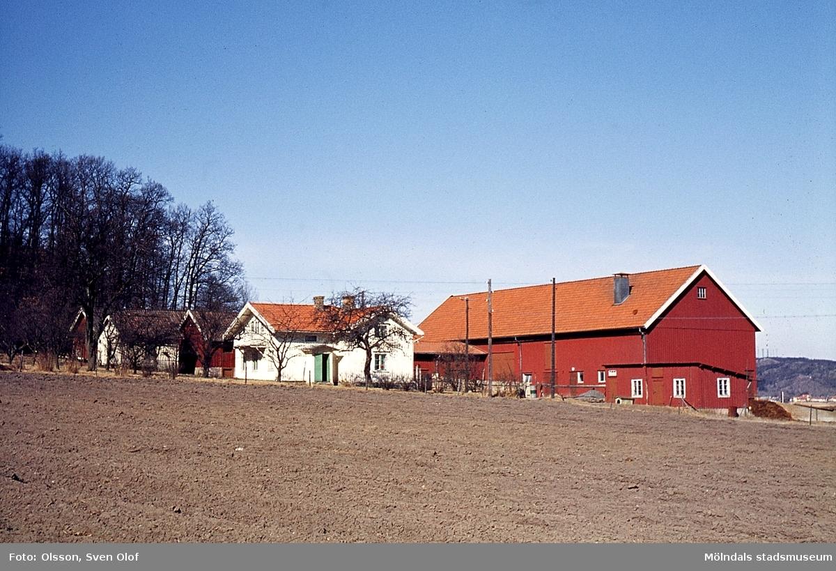 Bebyggelse på gården Bunketorp i Kärra, Mölndal, år 1964.
