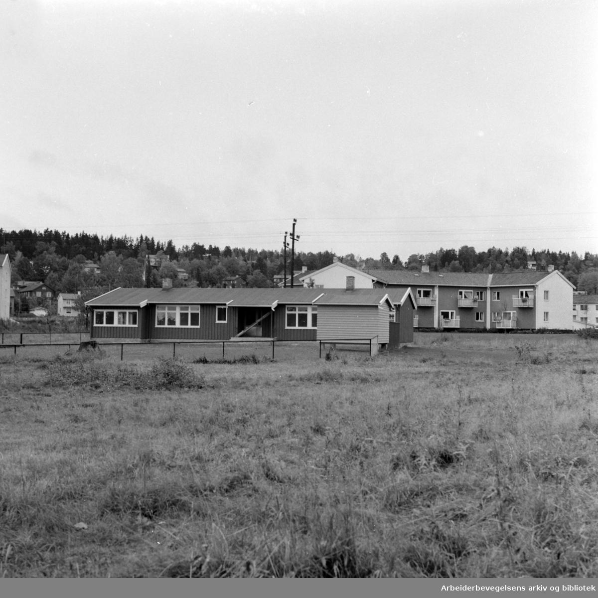 Ullevål Stadion. Nytt daghjem. Oktober 1957