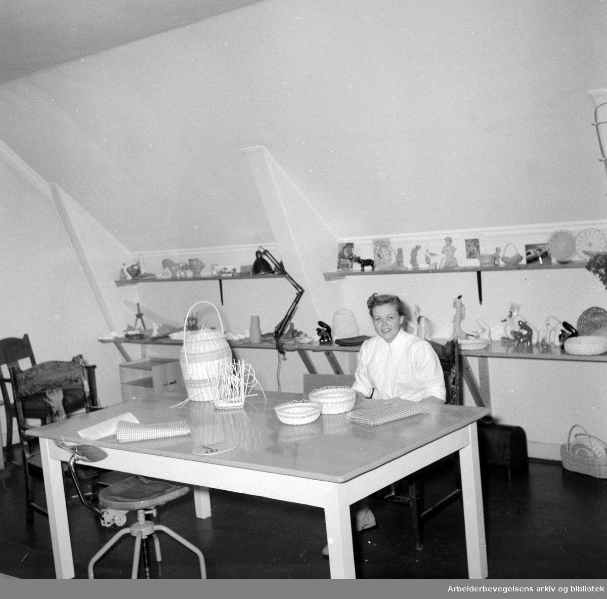 Ullevål sykehus. Psykiatrisk avdeling. Juni 1956