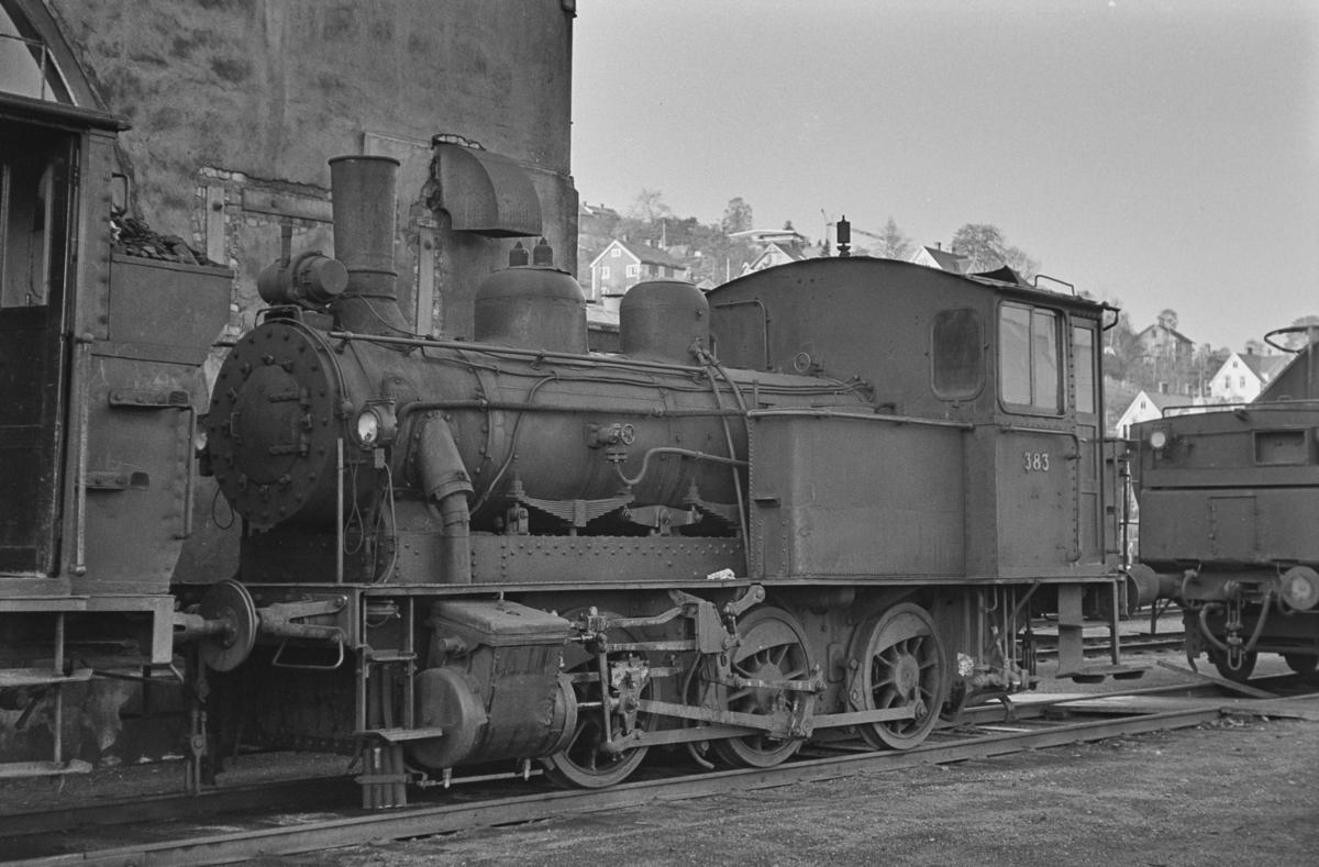 Utrangert damplokomotiv type 25c nr. 383 på Marienborg Verksted.